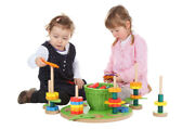 Toy Garden Stacking Game Lxwxh 15 15/16x15 15/16x5 29/32in New Flowers Blocks