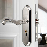 Stainless Steel Door Handle Interior Lock Dual Latch Lever Anti-theft Front Back