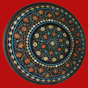 36and039and039 Marble Coffee Dining Table Top Stone Pietra Dura Inlay Antique Home Decor K