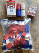 333 Poker Chips And Hoyle Poker Playing Cards Girl's Night Four Dice Card Games