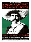 Mint And Signed Rage Against The Machine Emiliano Zapata Taz Poster 214/400