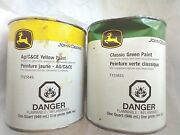 John Deereclassic Green Paint And Ag/candce Paint Canspaper Labels Collectible