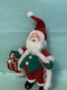 Annalee Mobilitee Doll 9andrdquo Santa Claus Christmas Red Peppermint Bag 2004