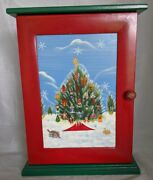 2004 Thomas Pacconi Classics Wooden Advent Calendar With 21 Christmas Ornaments