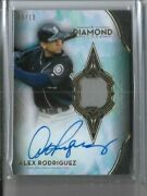 2021 Topps Diamond Icons Alex Rodriguez Auto Game Used Jersey Relic And039d /10