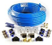 Compressed Air Line Kit Nylon Tubing Air Piping System Wall Mountable Hoses Tool