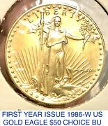 First Yr Issue 1986-w St Gaudens Double Eagle Gold 50 1 Owner Likely Collar Var
