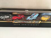Porsche 50th Anniversary Hot Wheels Collectible Set With 550 930 917 Boxster New