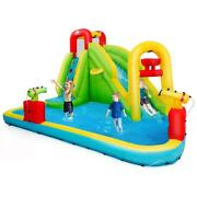 Inflatable Water Slide Kids Bounce House Pool Swimming Multi Color Outdoor Fun