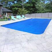 Solar Swimming Pool Cover Protection 20 X 40 Ft Rectangular Blue Silver 10 Year