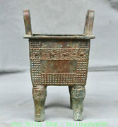 9 Antiquity Chinese Bronze Ware Dynasty Palace 4 Foot Incense Burners Ding