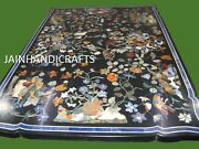 6and039x3and039 Marble Decorative Coffee Table Top Marquetry Floral Christmas Inlay