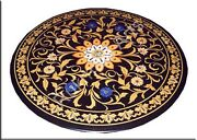 4and039x4and039 Marble Black Fine Inlay Precious Dining Center Table Top Garden Item