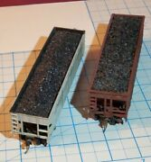Lot Of Two Coal Hoppers Weathered One Athearn, The Other Unknown