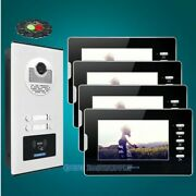 7 Tft Video Secure Doorbell Intercom With Lcd Color Screen For 4 Apartment