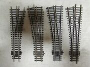 4 Peco Nickle/silver Switch Turnouts Ho Scale Lot 8