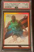 2008 Topps Signature Facs Sig Red Russell Westbrook Rookie Card Rc Psa 9