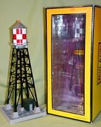 Mth 30-9029 Checker Board 193 Style Industrial Water Tower W/beacon Wks/ Lionel