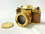 Contax Rts Gold With Planar 50/1.4 Lens 50th Anniversary Excellent Japan F/s