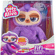 Pets Alive Fifi The Flossing Sloth Battery Powered Robotic Toy By Zuru Dance New