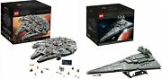 New Sealed Lego Ucs 75192 Millenium Falcon And 75252 Imperial Star Destroyer