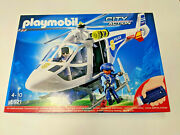 New Playmobil 6921 Police Helicopter W/light Sealed Nib Made In Germany Rare