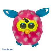 🍇 Vintage Working Furby 2012 Pink Blue White Polka Dot Interactive Toy Boom Ro