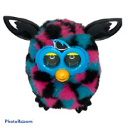 🍇 Vintage Working Furby 2012 Blue Black Pink Checkered Interactive Toy Boom Ro
