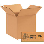 12 X 12 X 12 V3c Weather-resistant Corrugated Boxes Single Wall Boxes 200 Pieces