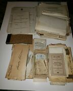Huge Lot Of Railroad And Train Union Ephemera Includes Letters Forms Statements+