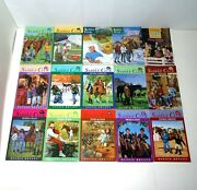 The Saddle Club/pony Tails Lot Of 15 Books By Bonnie Bryant Vintage Horse Girls