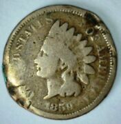 1859 Indian Head Cent Copper Nickel Penny First Year Of Issue In Series Lot 88b