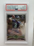 2012 Topps Chrome Russell Wilson Rookie Card Auto 40 Psa 9 Mint