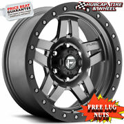 Fuel Offroad D558 Anza Anthracite Gray 15x10 Custom Wheels Rims Set Of 4