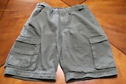 Boy Cub Scout Cotton Poly Switchback Shorts - Ladies 12 Olive Bsa 142