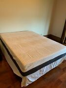 Used Twice 12 In Sleepy Queen Memory Foam Mattress With Complete Box And Standandnbsp