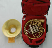 Professional Brushed Brass Double French Horn Bb/f 4 Keys 12-1/5 Bell New