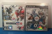 Madden Nfl 2 Game Lot For Ps3. Madden 10 And Madden 13 With Manuals