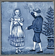 Wedgwood - C1879 December - Chistmas - Monthly Series - Antique Victorian Tile