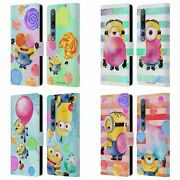 Official Despicable Me Watercolour Minions Leather Book Case For Xiaomi Phones