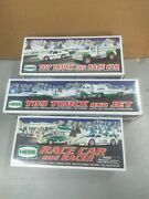 New 2009/10/11 Hess Trucks Race Car And Racer Truck And Jet And Truck And Race Car