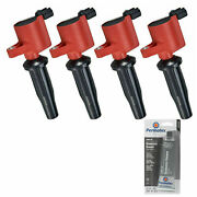 Grease + 4 Pack Engine Ignition Coil For Ford Lincoln Mazda 2.5l 2.0l 2.3l L4