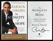 Barack Obama Signed The Audacity Of Hope 1st Edition Hard Cover Book Bas A68306