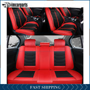 15x Seat Covers For Dodge Chevy Trucks Cars Luxury Pu Leather 5-seats Waterproof