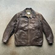 Lone Pine Brown Leather Jacket Menandrsquos Size 44 Large Buckle Back American Made