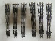 6 Peco Nickle/silver Switch Turnouts Code 80 N-scale Lot 80