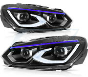 Fits 2010-2014 Volkswagen Golf 6 Headlamps Replacement Led Headlights Left+right