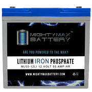 Mighty Max 12v 55ah Lithium Replacement Battery For Scada Systems Agm Solar