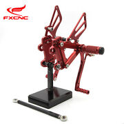 Cnc Adjustable Footrest Rearset Footpegs Foot Pegs Set For Zzr600 2005 2006-2008