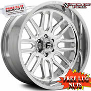 Fuel Off-road D721 Ignite Polished And Milled 22x12 Wheels Rims Set Of 4